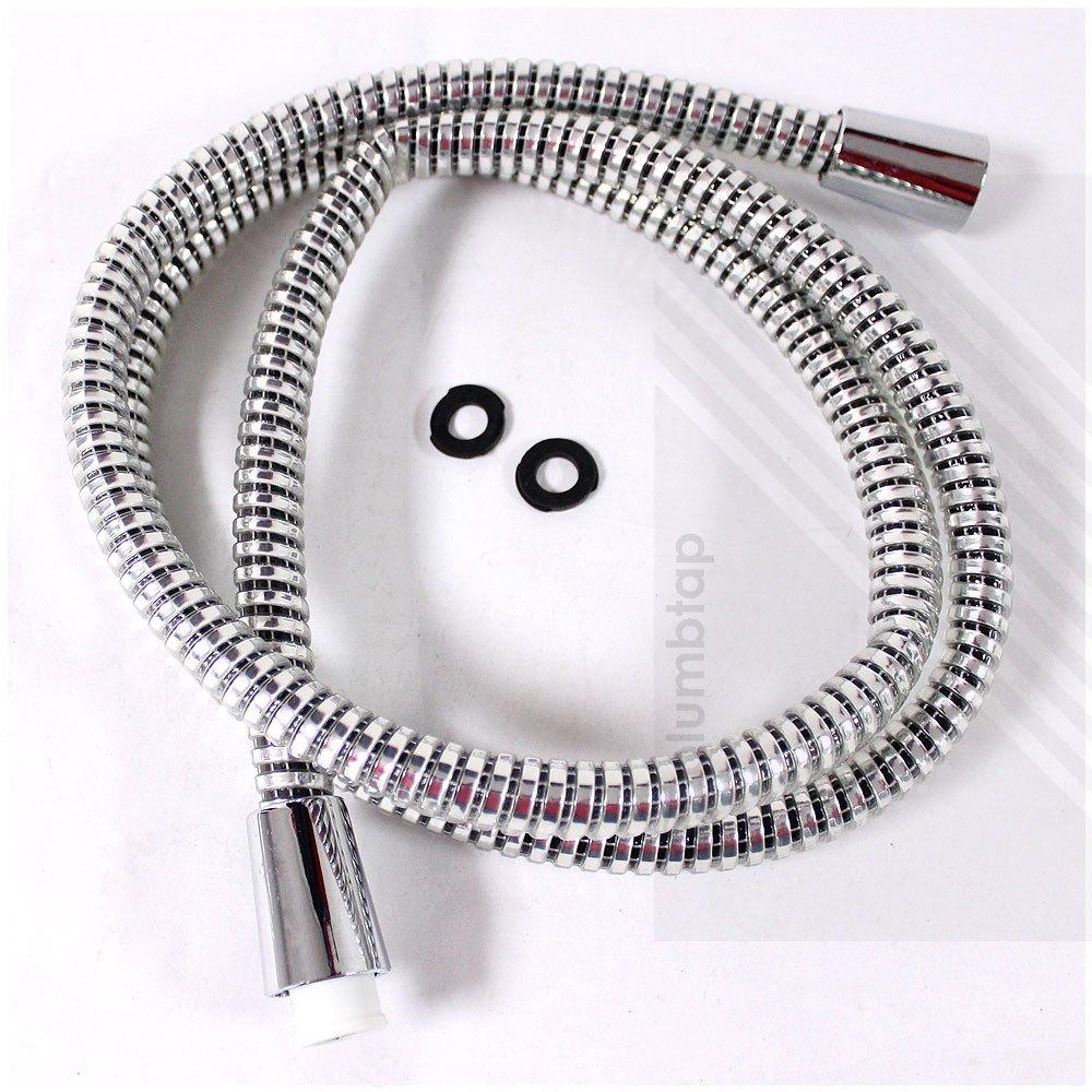 1.25m Chrome PVC Shower Hose with Hi Flow Large Bore | ECOSPA