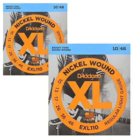 D Addario Regular Light níquel Wound Cuerdas para guitarra eléctrica 10 – 46, 2