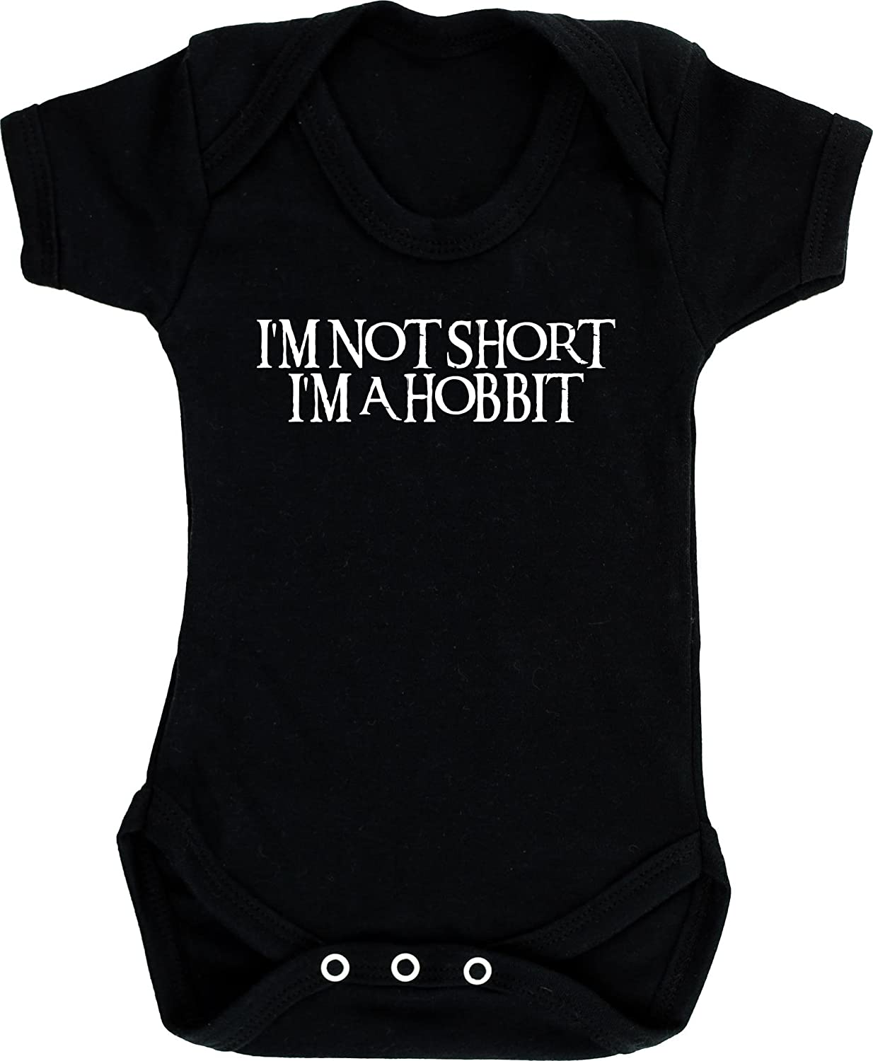 Short Sleeve Hippowarehouse Im not Short Im a Hobbit Baby Vest Bodysuit Boys Girls