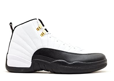buy popular c5868 ea76f Jordan Air 12 Retro Taxi Men s Basketball Shoes White Black-Taxi-Varsity Red