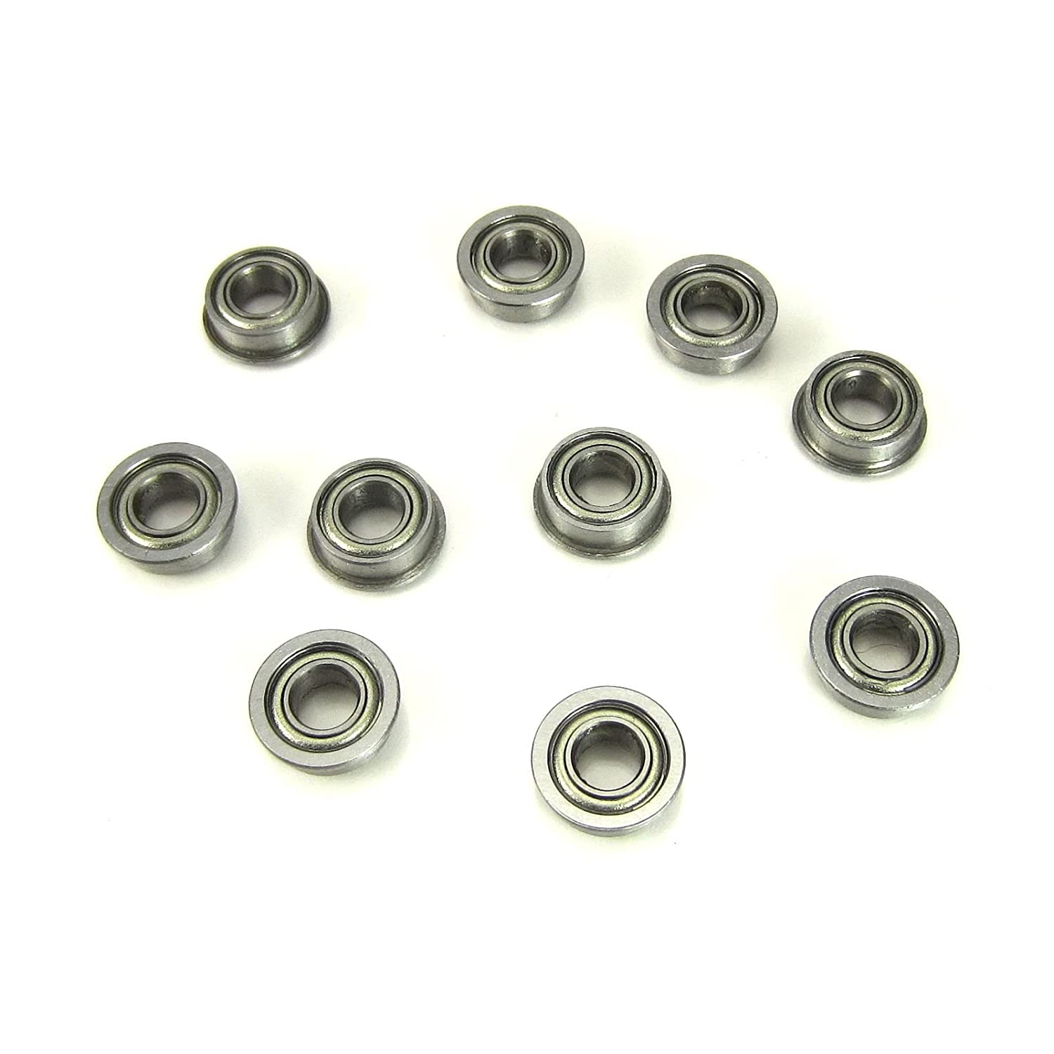 10pcs. 4x8x3mm Flanged Precision Ball Bearings Chrome Steel Metal Shields TRB RC