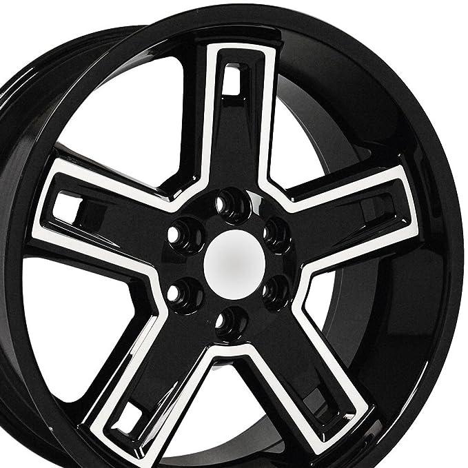 Amazon Com Blk Wheel 22x9 5 Deep Dsh Style Wmchd Face For 03 14