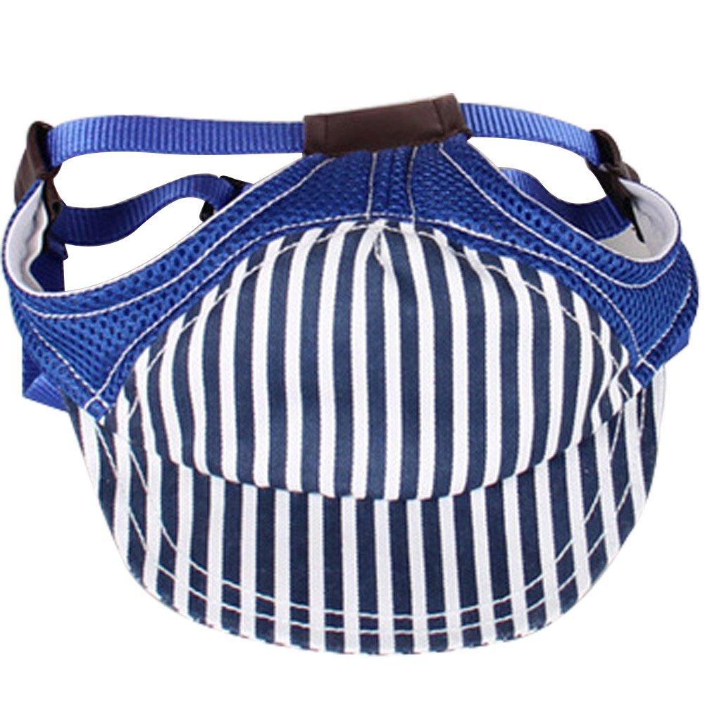 bluee L bluee L Ztl Adjustable Pet Dog Sun Hat Outdoor Sports Hat Baseball Cap Sunbonnet with Ear Holes