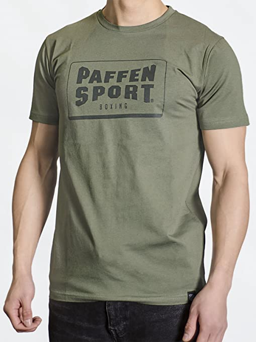 Paffen Sport Logo Frame – Camiseta, Unisex, Logo Frame, Verde Oliva, Large: Amazon.es: Deportes y aire libre
