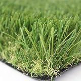 Prato sintetico 30mm finta erba tappeto manto giardino 4 sfumature colore 2x10