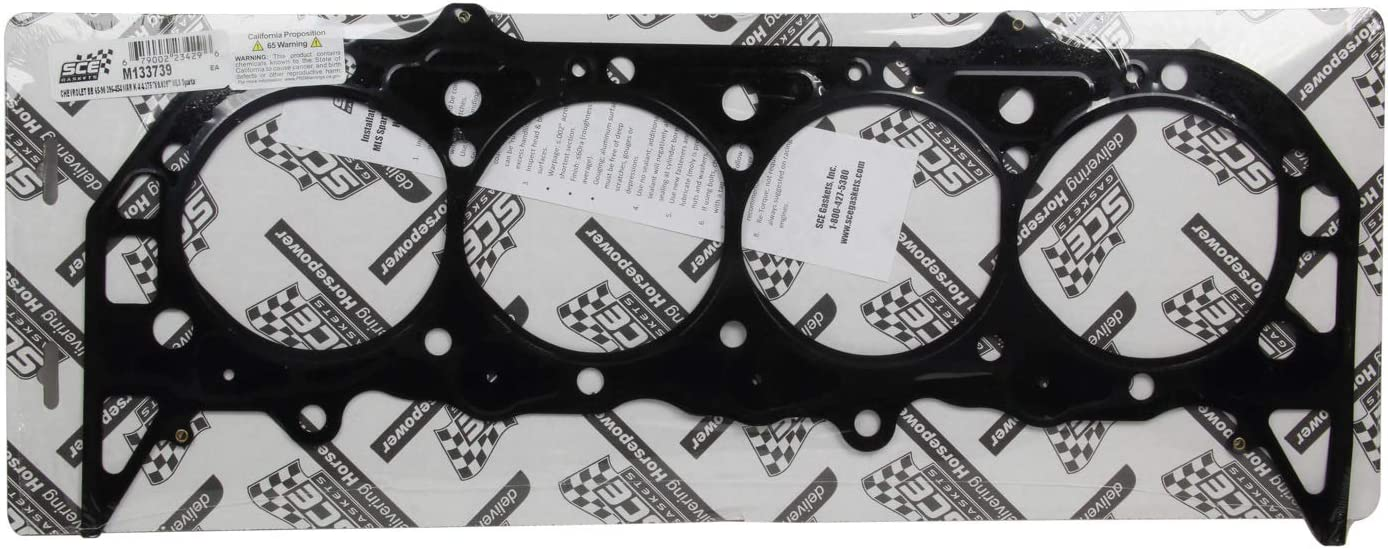 MLS Spartan Cylinder Head Gasket Small Block Chevy 0.039 in Compression Thickness Each 4.375 in Bore Multi-Layer Steel