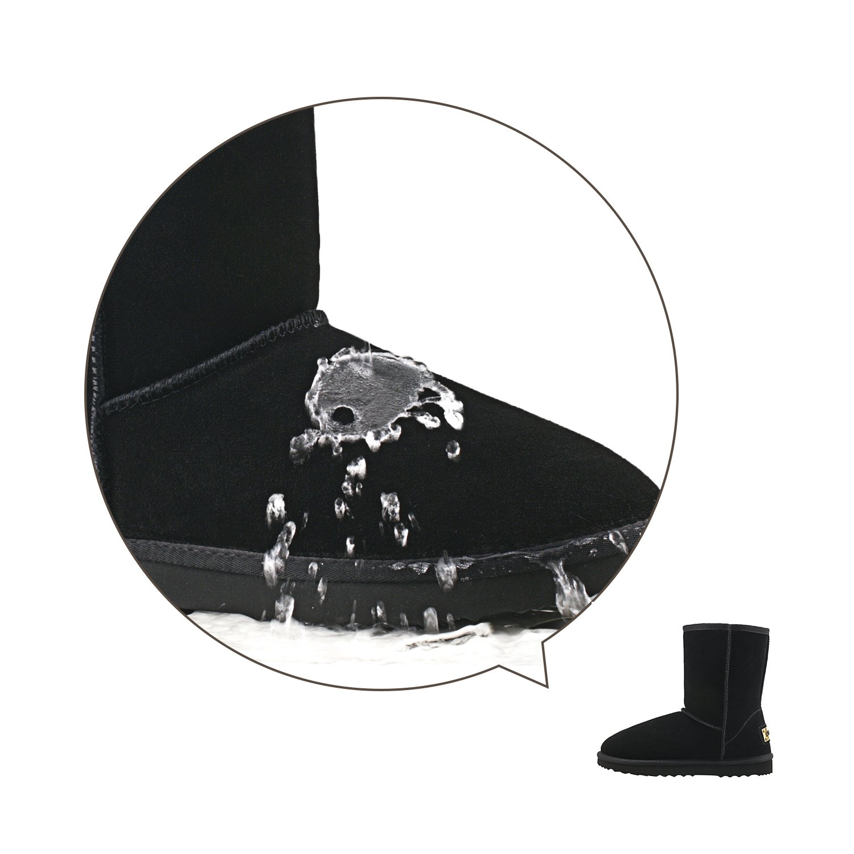 Shenduo Scarpe Uomo Invernali Stivali da Neve Classico A Gamba Mezza Impermabile D5625