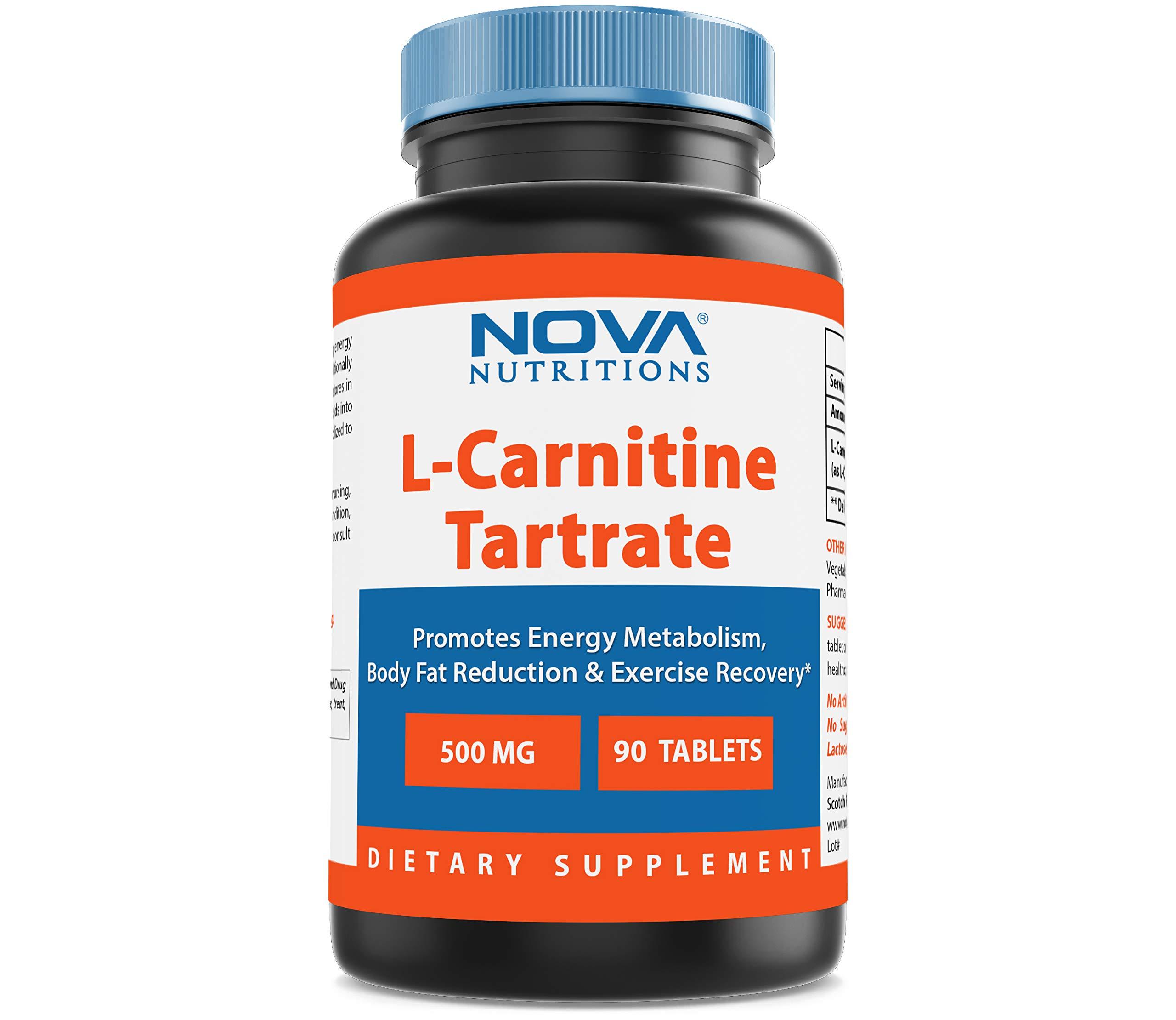 Nova Nutritions L-Carnitine 500 mg 90 Tablets by Nova Nutritions