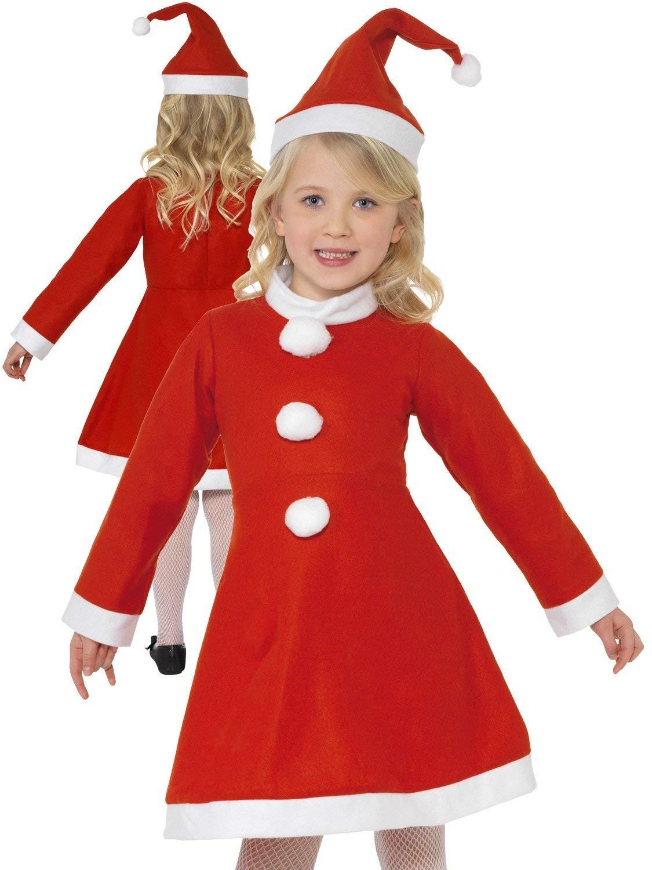 3-6 Years Old Kids Christmas Costumes Santa Claus Xmas Fancy Dress Costume