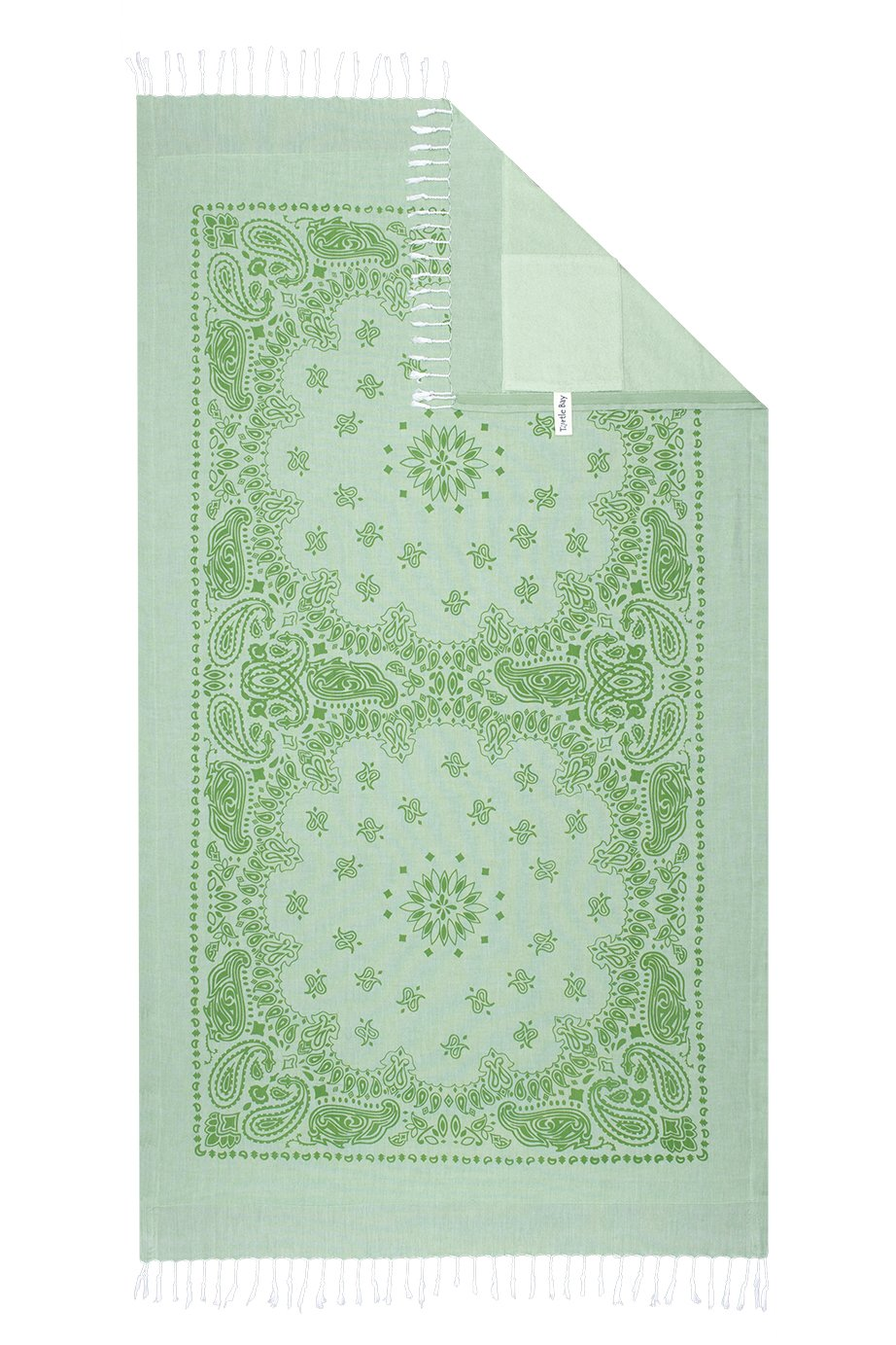 Turtle Bay - Toalla de playa / Pareo - Toalla de baño - Kikoy Towel Paisley - Color : Minty Green/Spring Green - Tamaño : 95 x 170 cms: Amazon.es: Hogar