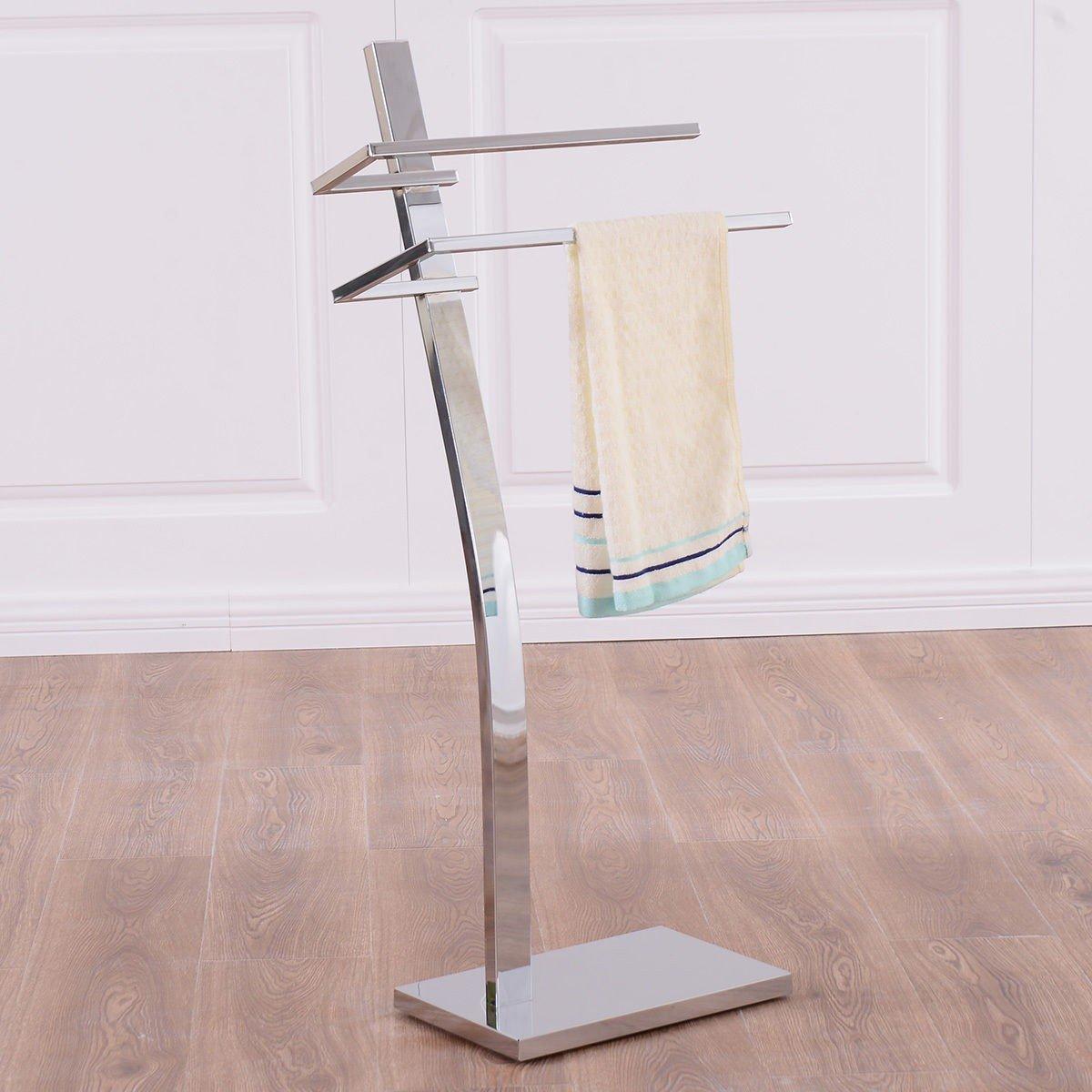 2-tier Free Standing床タオルホルダー – by Choice製品 B0751CXK6H