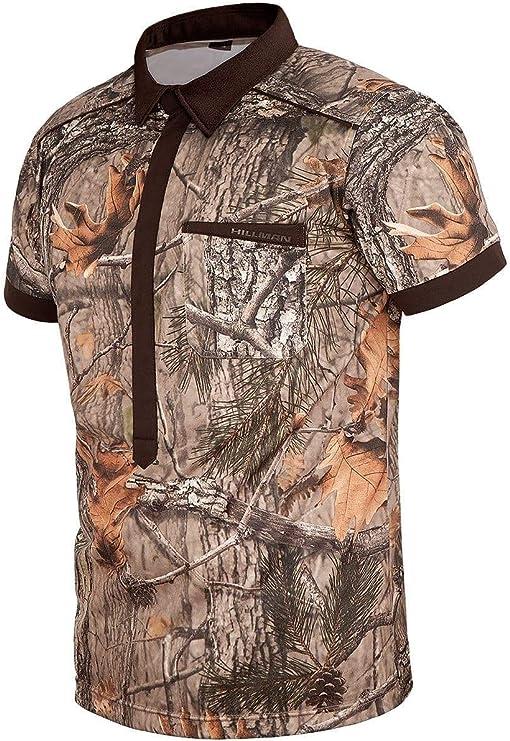 Fast Cheetah Hillman Camo - Camiseta para Hombre con Botones magnéticos, XXL, fantasía (Autumn Wood): Amazon.es: Deportes y aire libre