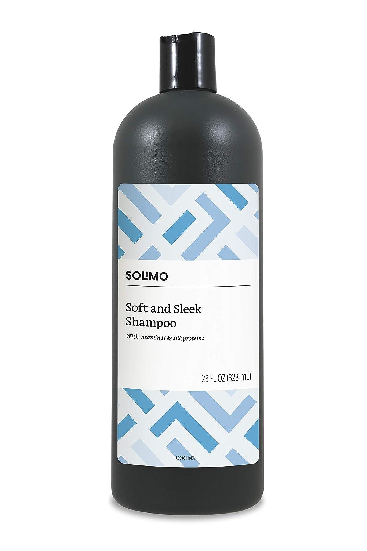 Amazon Brand - Solimo Soft & Sleek Shampoo, 28 Fluid Ounce