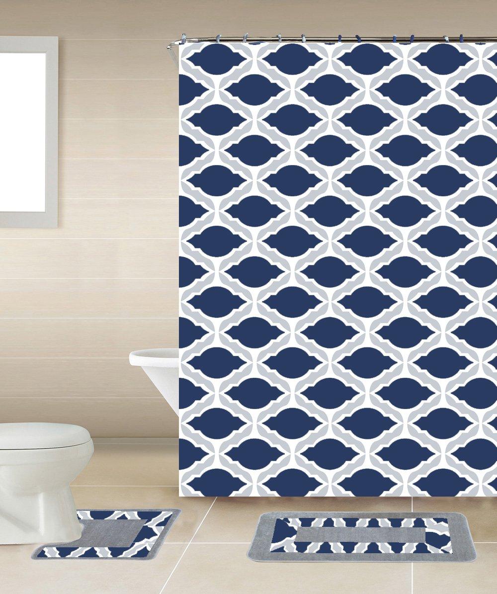 Amazon.com: GorgeousHome New Designs 15PC Printed Banded Bathroom ...