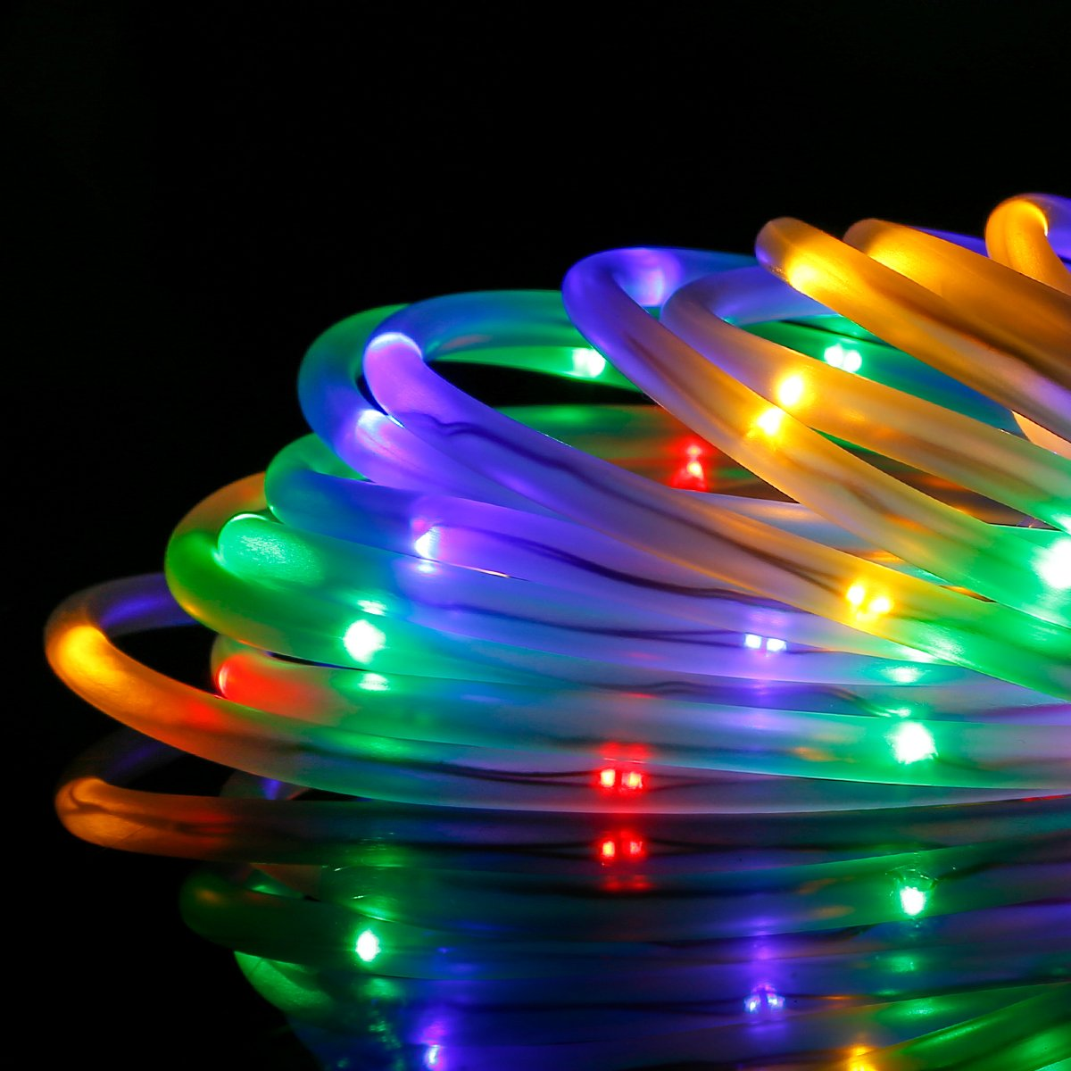 Led Lights Rainbow: 39FT RGB LED Strip Light Rainbow Rope 120 Fairy Tube