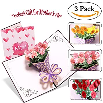 Pop Up Greeting Cards For Mother Christmas Gift Greeting Cards