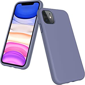 Kocuos iPhone 11 Case, [Liquid Silicone Case] Gel Rubber Full Body Protection Shockproof Cover Case Drop Protection Case Compatible with Apple 11 6.1 Inch 2019(Grey)