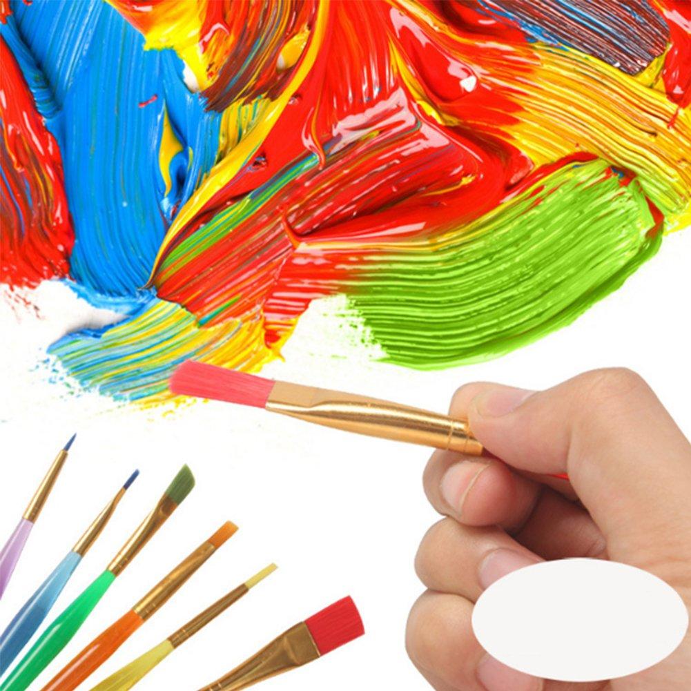 set di pennelli multifunzionali da pittura acrilici colori a olio e dettagli pittura 5 M Hemore per acquerelli