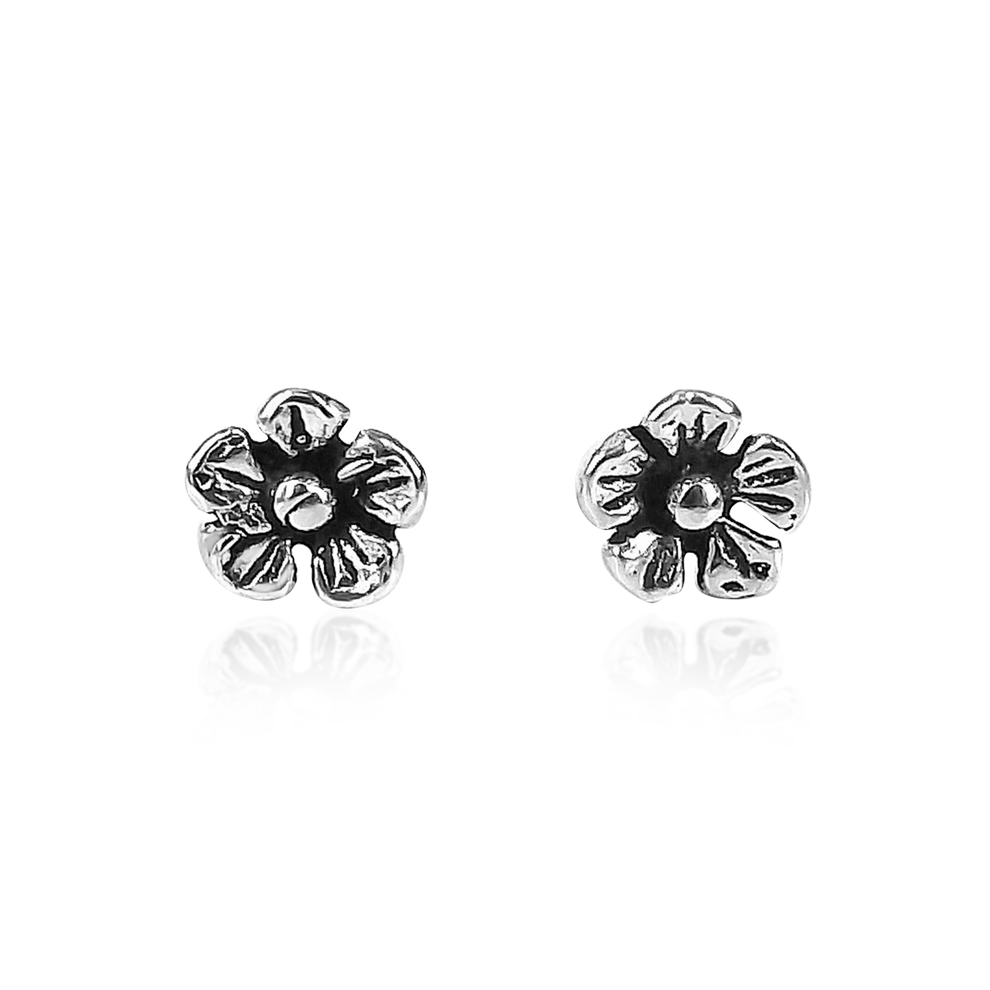 AeraVida A Pair of Cute Wild Flower Sterling Silver Nose Ring