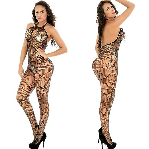 18baaf58831 Amazon.com: AKwell Women Perspective Hollow Lingerie Underwear ...