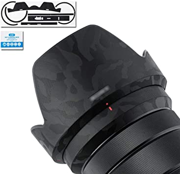 RAYANSPHOTO Lens Guard Skins Wrap Cover Decal Protector Wear Case for Sony Prime Lenses Series Pattern Carbon Black FE 55mm F1.8 ZA