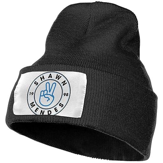 Amazon.com  Enghuaquj Shawn Mendes Knitted Hat Cap Beanie Black ... a2afb53acc0