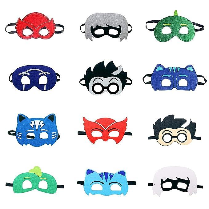 LAOZHOU Máscaras de PJ Cartoon Heroes 12 pcs. Artículos de Fiesta ...