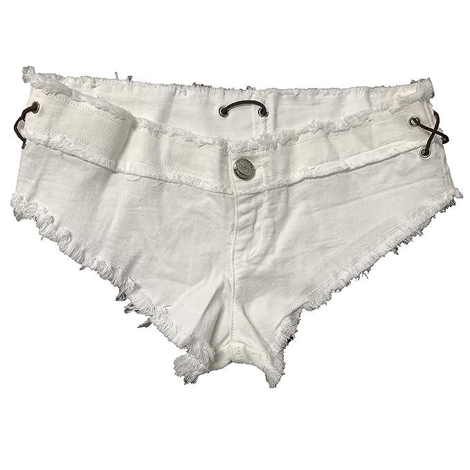 Amazon.com: cosyou Mujer Sexy Cortar cintura baja vaqueros ...