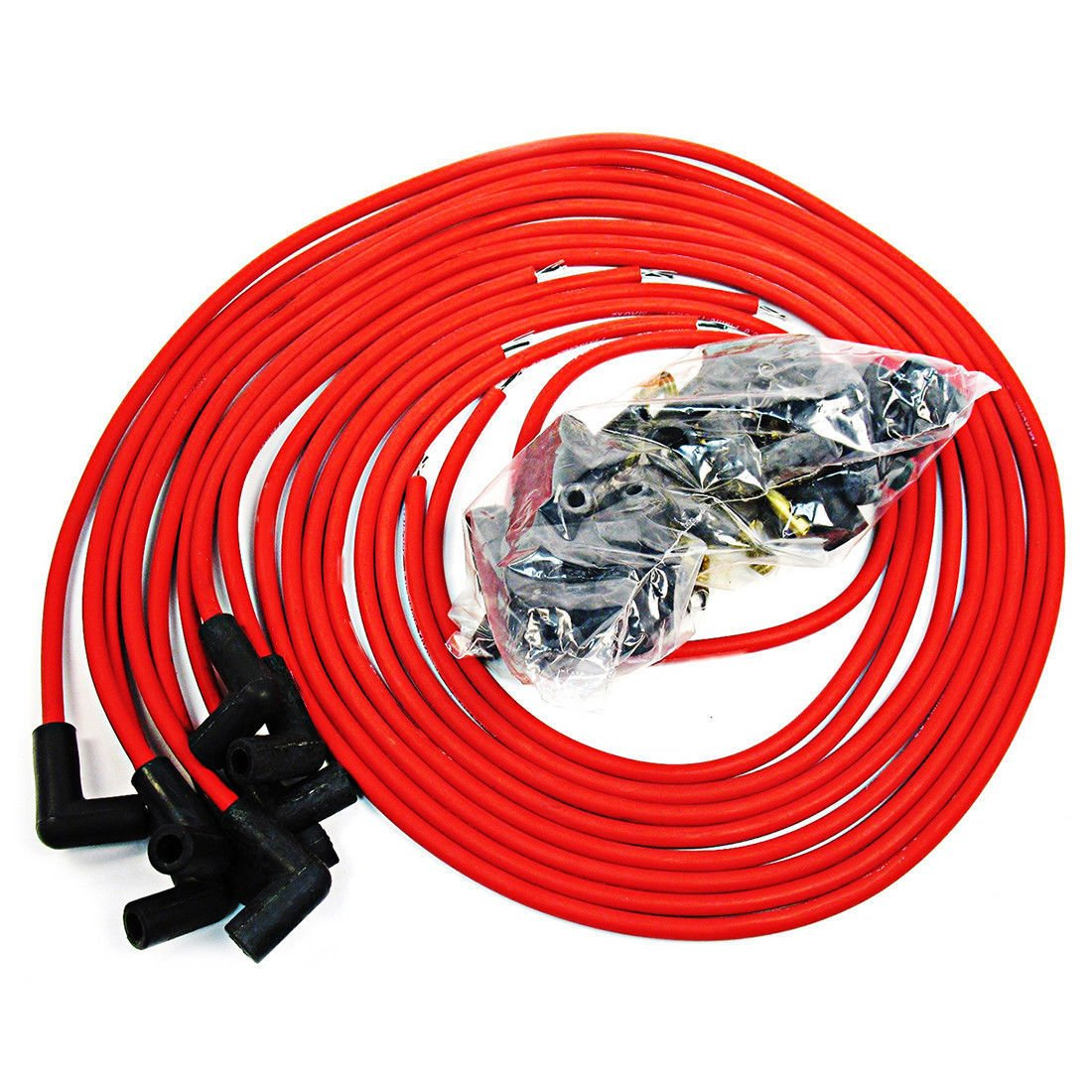 95 Mm Black 90 Degree Distributor Spark Plug Wires For 454 Bbc Gm Coil Wiring Chevy Sbc Sbf 302 350 Automotive