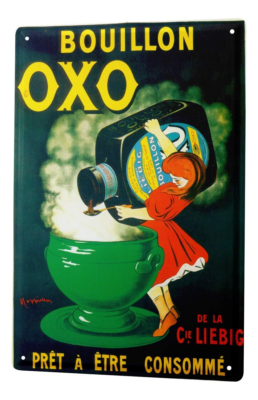Plaque É maillé e Dé cor De Cuisine Bouillon bouillon tasse bouteille Paroi Mé tallique Signes 20X30 cm leotie fashion&lifestyle