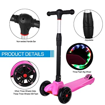 Amazon.com : Anfan 3 Wheels Kids Kick Scooter, Mini Push ...