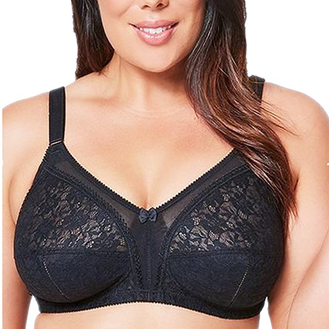 705f81fb3 Olivachel Women Firm Support Wirefree Bra Full Figure Big Plus Size Soft Bra  D DD