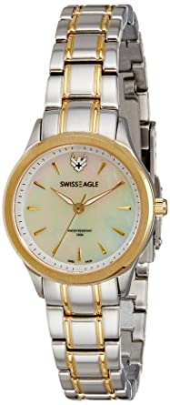 Swiss Eagle Analog White Dial Women's Watch - SE-6047-33