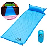 WACOOL Self Inflating Camping Sleeping Pad Mat with Pillow