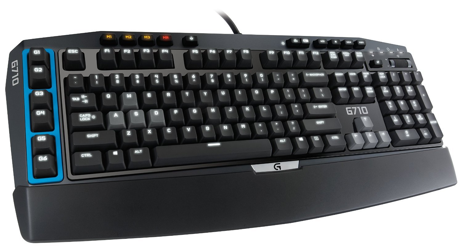 Logitech G710 Blue Mechanical Gaming Keyboard with Cherry MX Blue Switches for Tactile High-Speed Feedback (920-006519) [並行輸入品] B01LYZTC0S