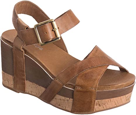 886 Leather Two Width Wedge Sandals