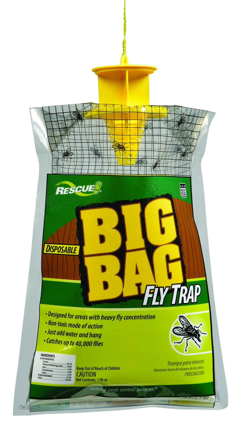 RESCUE Outdoor Non-Toxic Disposable Big Bag Fly Trap