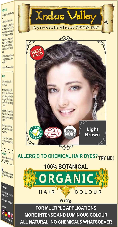 100% orgánico 100% Botanical Natural Herbal hair Dye color Kit para hombres y mujeres 100% libre de químicos, no PPD, no Amoniaco, no peróxido y sin ...