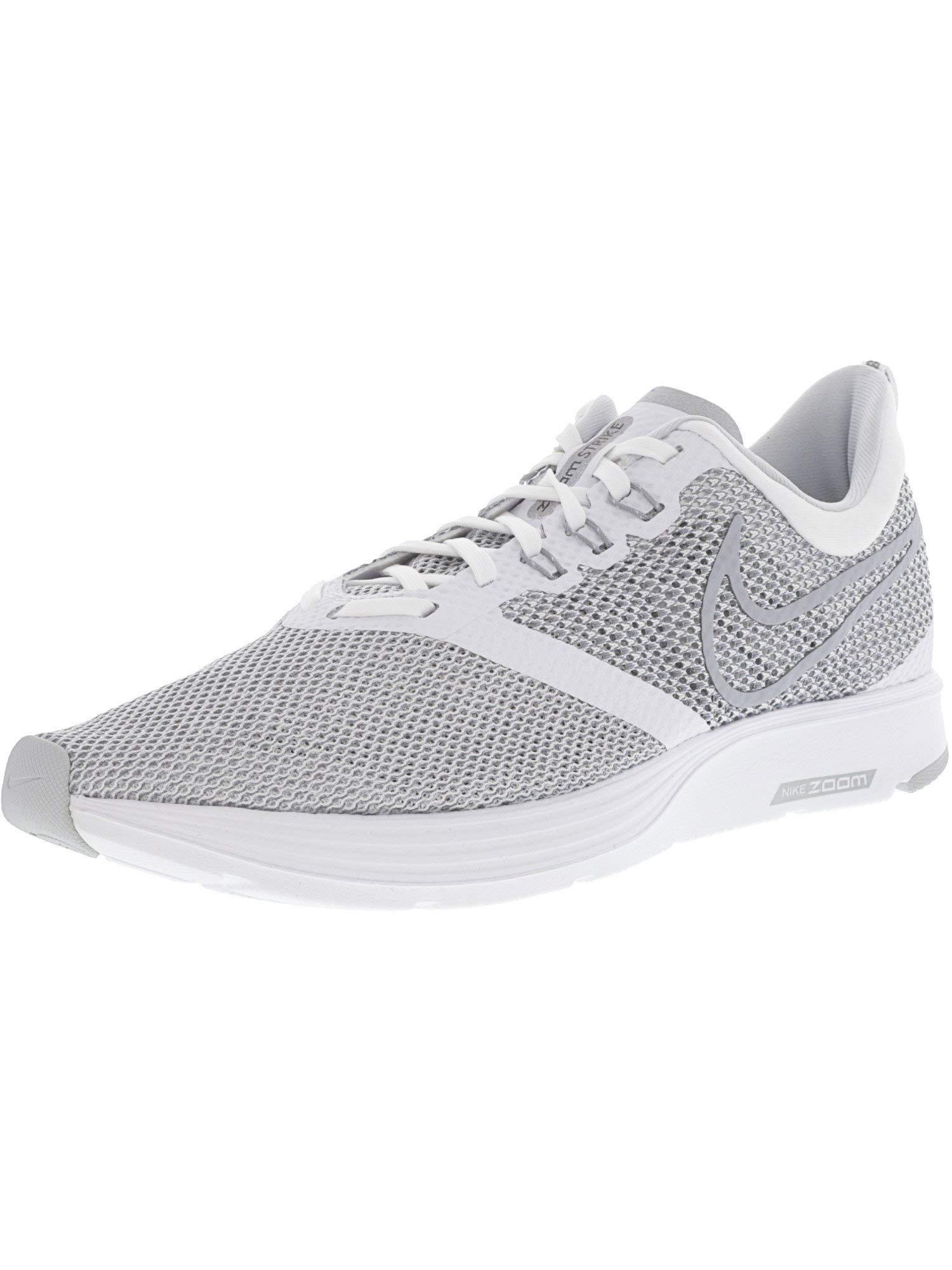 c4d57cab101d0 Nike Zoom Strike Men's Running Shoe (8 D US, White/Wolf Grey)