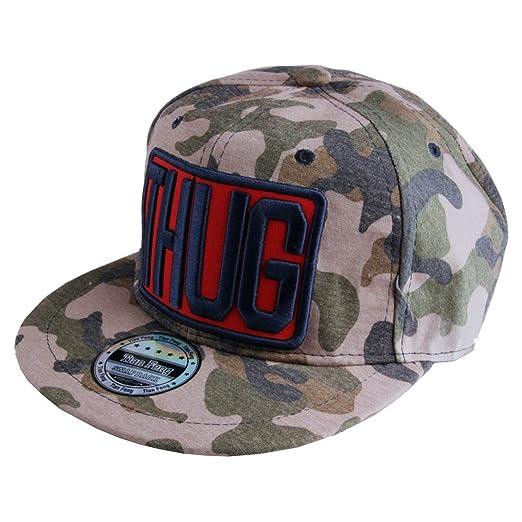 Amazon.com  Morehats Thug Camouflage Snapback Baseball Cap Hip-hop ... e96055a709b