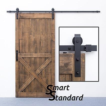 Amazon Smartstandard 8ft Heavy Duty Sturdy Sliding Barn Door