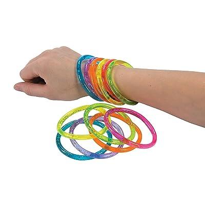 Fun Express - Water Glitter Bracelets - Jewelry - Bracelets - Novelty Bracelets - 12 Pieces: Toys & Games