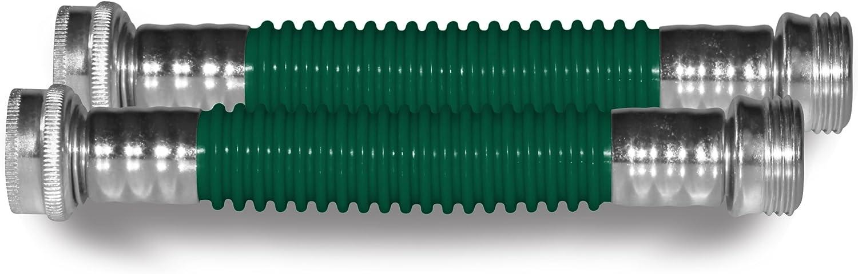 """Plastair WHA-625-7IN-4-AMZ Ulink Hose Kink Protector (2 Pack), Green, 5/8"""""""