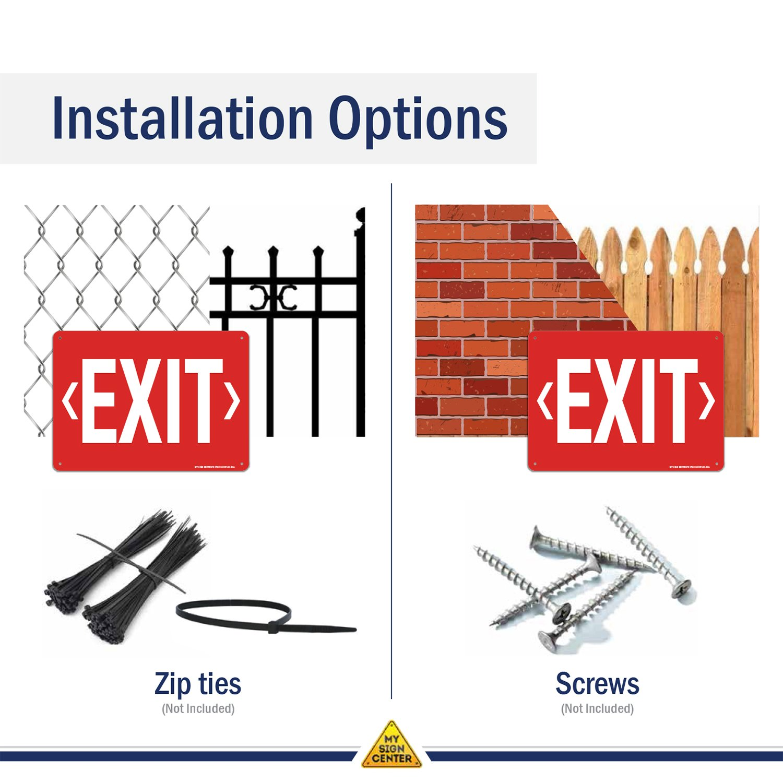 Amazon.com: Señal de salida con doble flecha, señal de ...