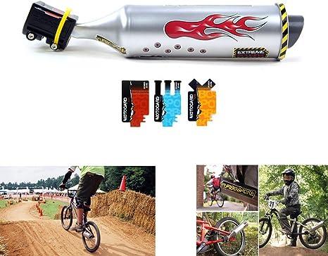 TOPCABIN® Bicicleta Tubo de escape con turbina moto sonido un Super Cool accesorio para 16
