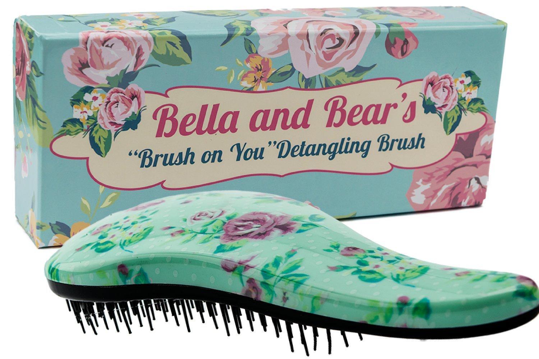Detangling Hair Brush the Best Detangler Brush for Wet or Dry Hair, glide thru bristles so no more tangles no more tears. Bella and Bear MR1025