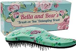 Bella and Bear Detangling Hair Brush the Best Detangler Brush for Wet or Dry Hair no more tangles no more tears