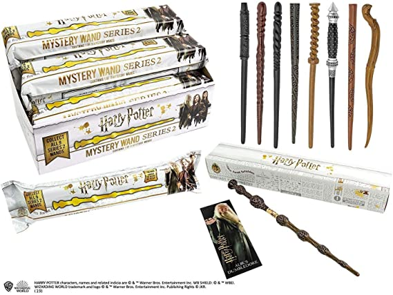 """HARRY POTTER SERIES 2 12/"""" MYSTERY FIGURINE WAND 1//9 WITH 3D BOOKMARK /& BOX"""