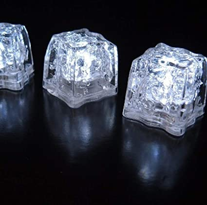 4 Pack 3 Mode White LiteCubes Brand Ice Cubes in a Tube