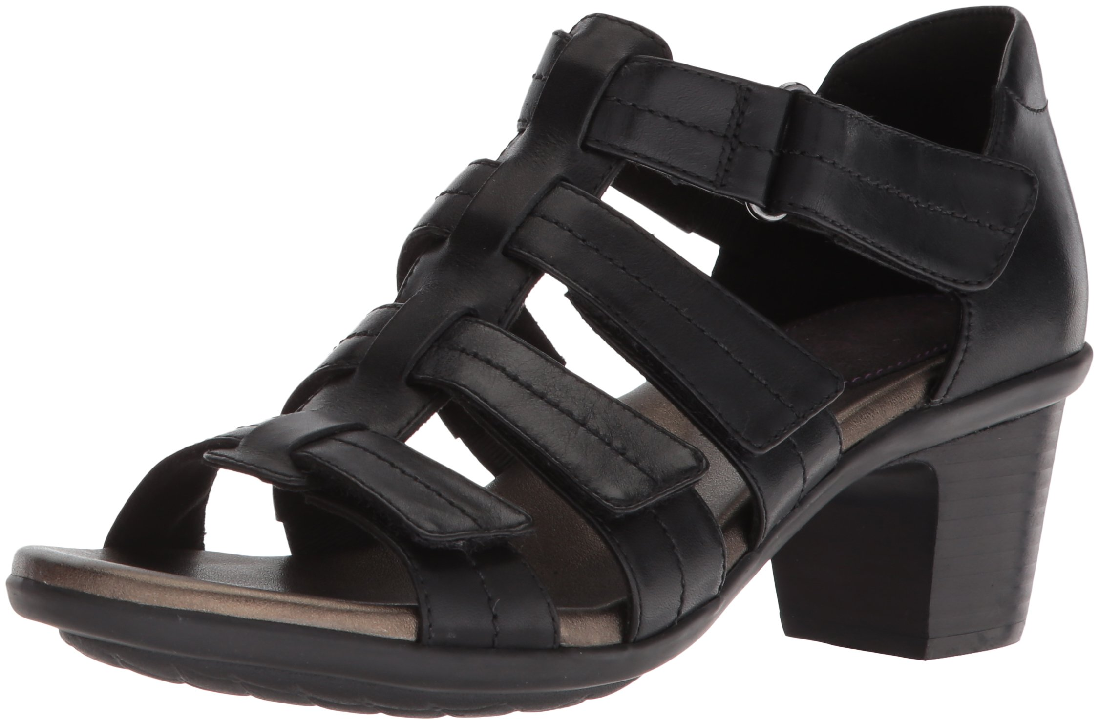 Aravon Women's Medici II Gladiator Heeled Sandal, Black, 10 B US by Aravon